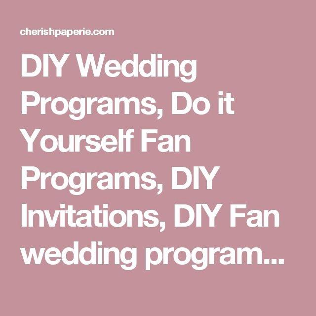 Wedding Program Fan Kit Best Of 1000 Ideas About Fan Wedding Programs On Pinterest