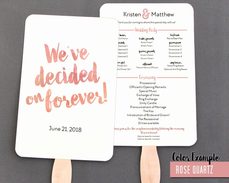 Wedding Program Fan Kit Luxury Blush Personalized Wedding Program Hand Fan Ideas