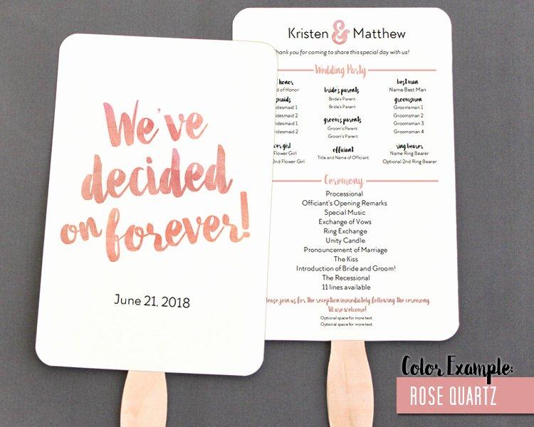 Wedding Program Fan Kit Luxury Blush Personalized Wedding Program Hand Fan Ideas