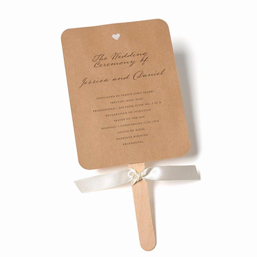Wedding Program Fan Kit Luxury Gartner Studios Rustic Kraft Fan Program Kit