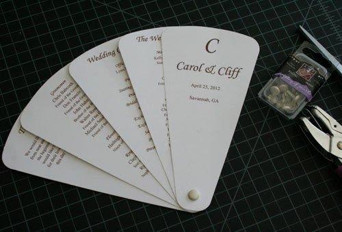 Wedding Program Fan Kit Unique Custom Programs Llc Dba Cherish Paperie Blog Diy Fan