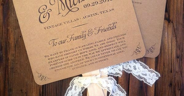 Wedding Program Fans Kit Awesome Diy Fan Wedding Programs Country Google Search Want to