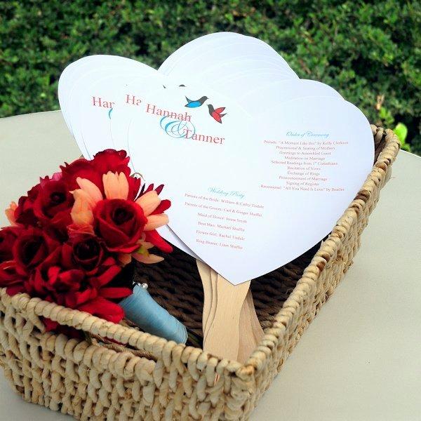 Wedding Program Fans Kit Awesome Do It Yourself Heart Fan Wedding Programs Kit