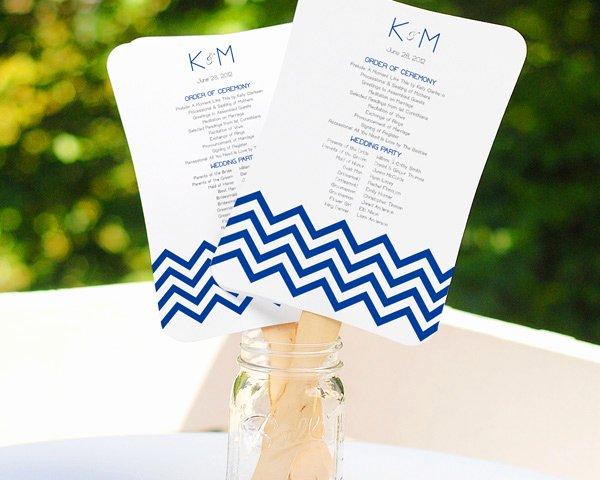 Wedding Program Fans Kit Beautiful Diy Scroll Fan Program Kit