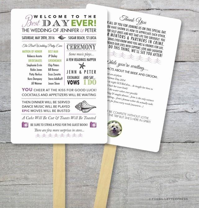 Wedding Program Fans Kit Beautiful Diy Wedding Program Fan Kit Best Day Ever order