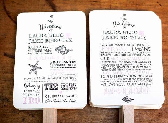Wedding Program Fans Kit Fresh 25 Best Ideas About Fan Wedding Programs On Pinterest