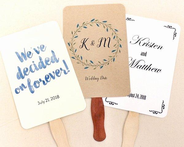 Wedding Program Fans Kit Fresh Wavy and Jumbo Program Fan Sticks