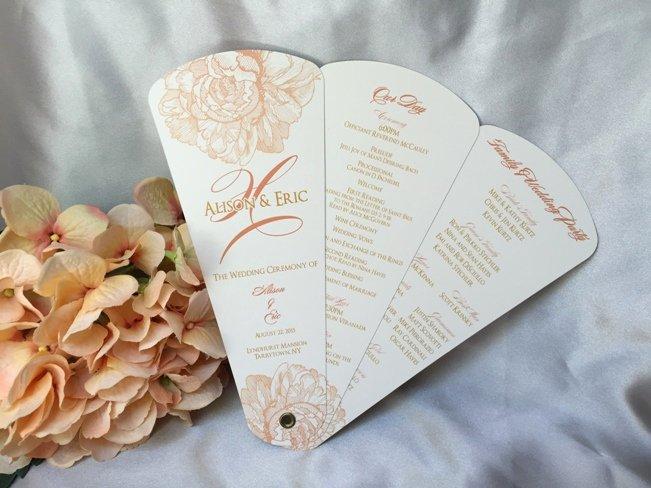 Wedding Program Fans Kit Luxury Wedding Programs – Wedding Fan Programs – Fan Wedding Programs