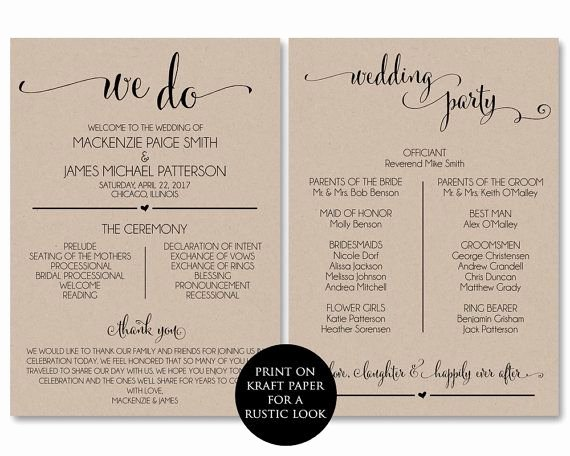 Wedding Program Template Free Download Awesome Best 25 Wedding Program Templates Ideas On Pinterest