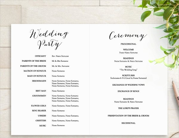 Wedding Program Template Free Download Best Of 25 Wedding Program Templates Free Psd Ai Eps format