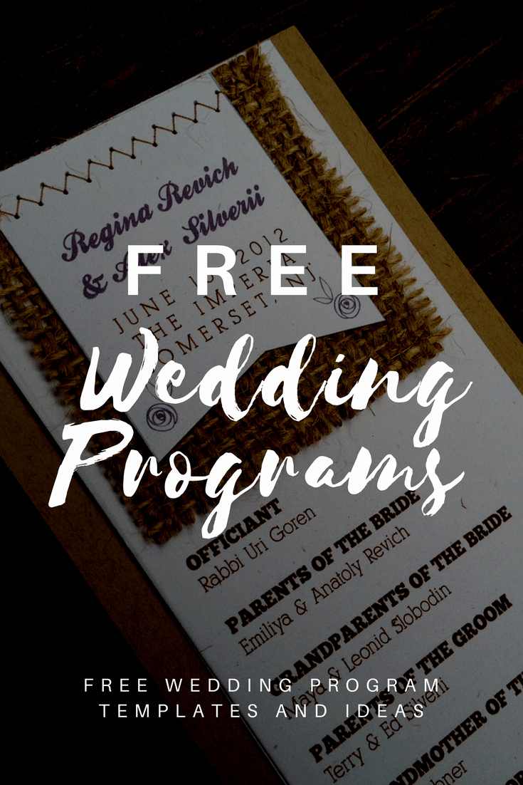 Wedding Program Template Free Download Best Of Free Wedding Program Templates