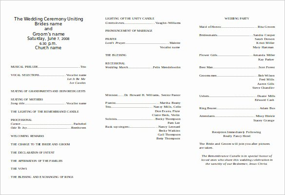 Wedding Program Template Free Download Elegant 8 Word Wedding Program Templates Free Download
