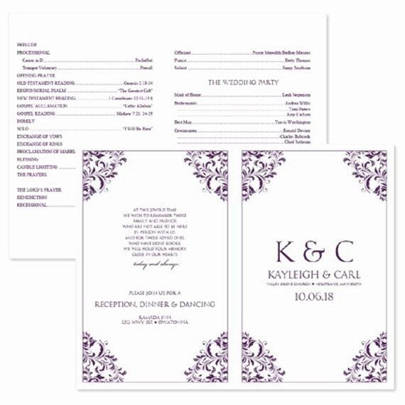 Wedding Program Template Free Download Inspirational Wedding Program Template Download Instantly by Karmakweddings