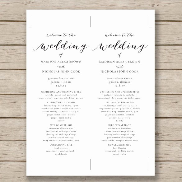 Wedding Program Template Free Download Lovely Wedding Program Template 41 Free Word Pdf Psd