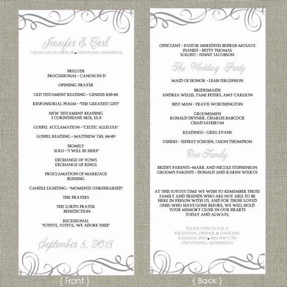Wedding Program Template Free Download New Wedding Program Template Download by Diyweddingtemplates