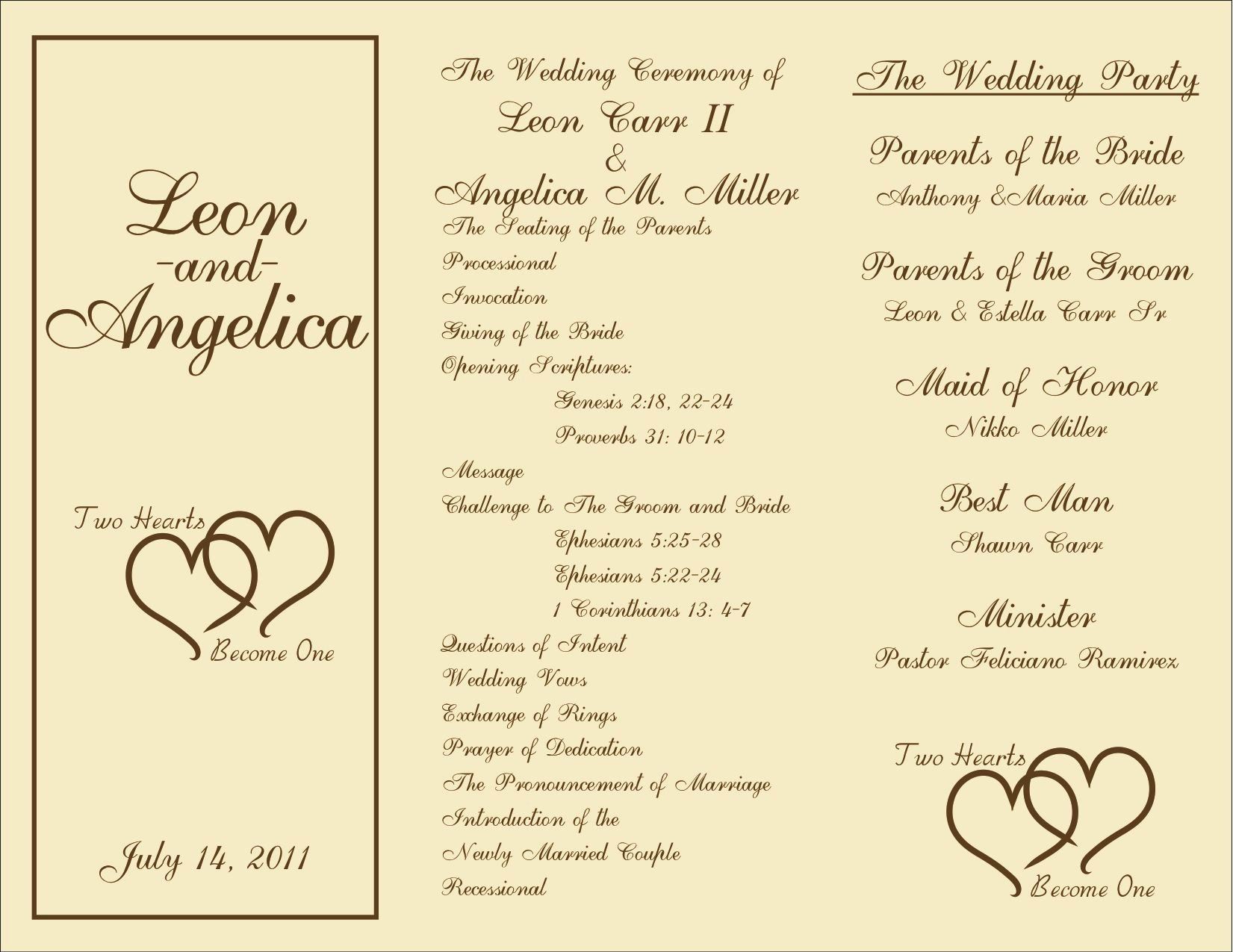 Wedding Program Template Free Download Unique Printable Wedding Programs On Pinterest