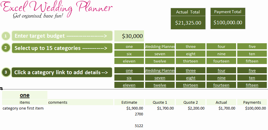 Wedding Project Plan Excel New Free Excel Wedding Planner Template Download today