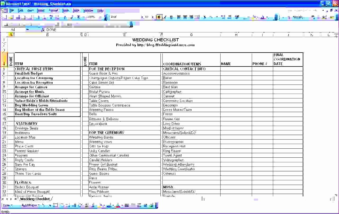 Wedding Project Plan Lovely 10 Project Plan Excel Templates Exceltemplates
