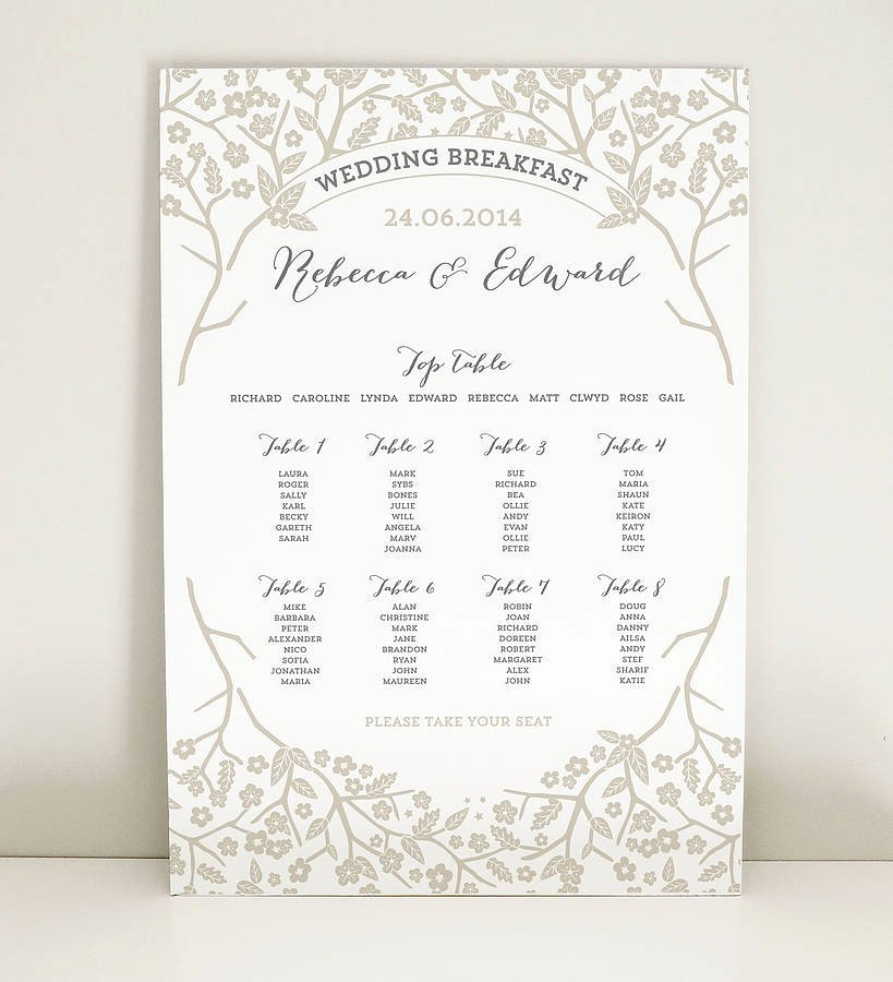 Wedding Project Plan Luxury Enchanted forest Wedding Table Plan by Project Pretty