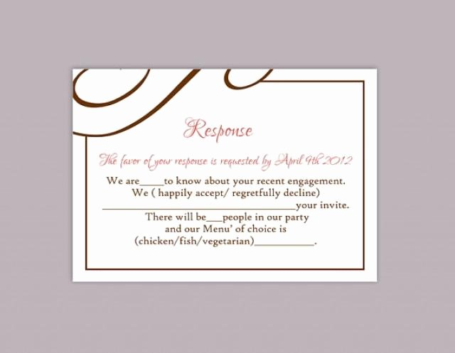 Wedding Rsvp Postcard Templates Beautiful Diy Wedding Rsvp Template Editable Text Word File Download
