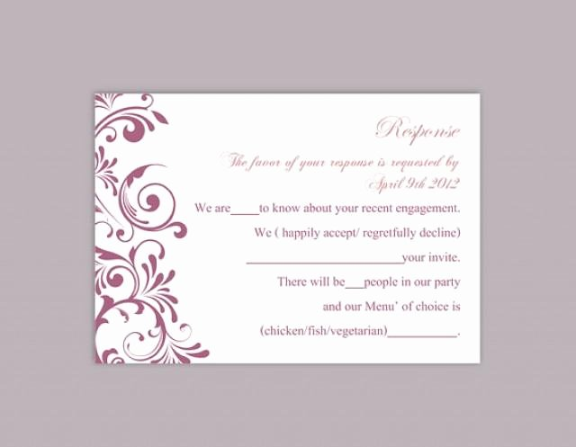 Wedding Rsvp Postcard Templates Best Of Diy Wedding Rsvp Template Editable Text Word File Download