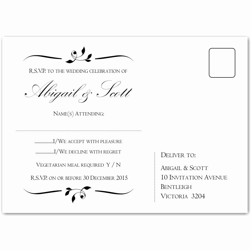 Wedding Rsvp Postcard Templates Elegant Bud Wedding Invitationsrsvp Calista