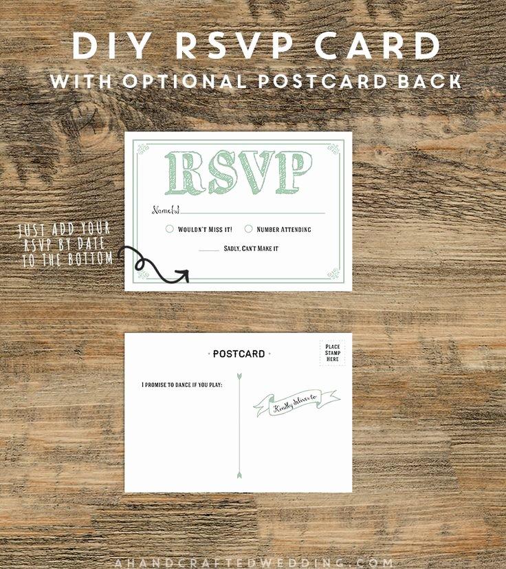 Wedding Rsvp Postcard Templates Inspirational Diy Rsvp Postcard Template