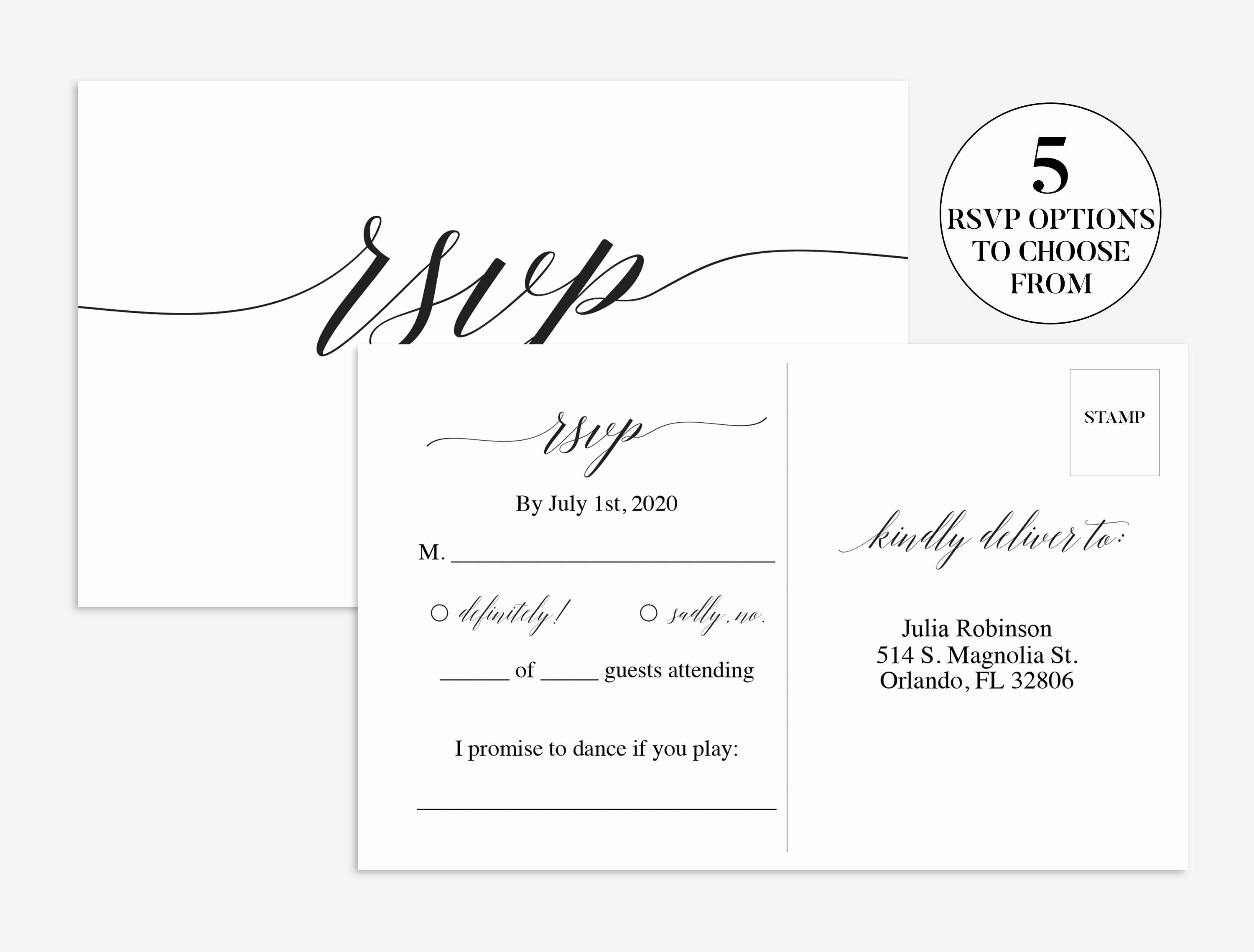 Wedding Rsvp Postcards Template Awesome Wedding Rsvp Card Wedding Rsvp Template
