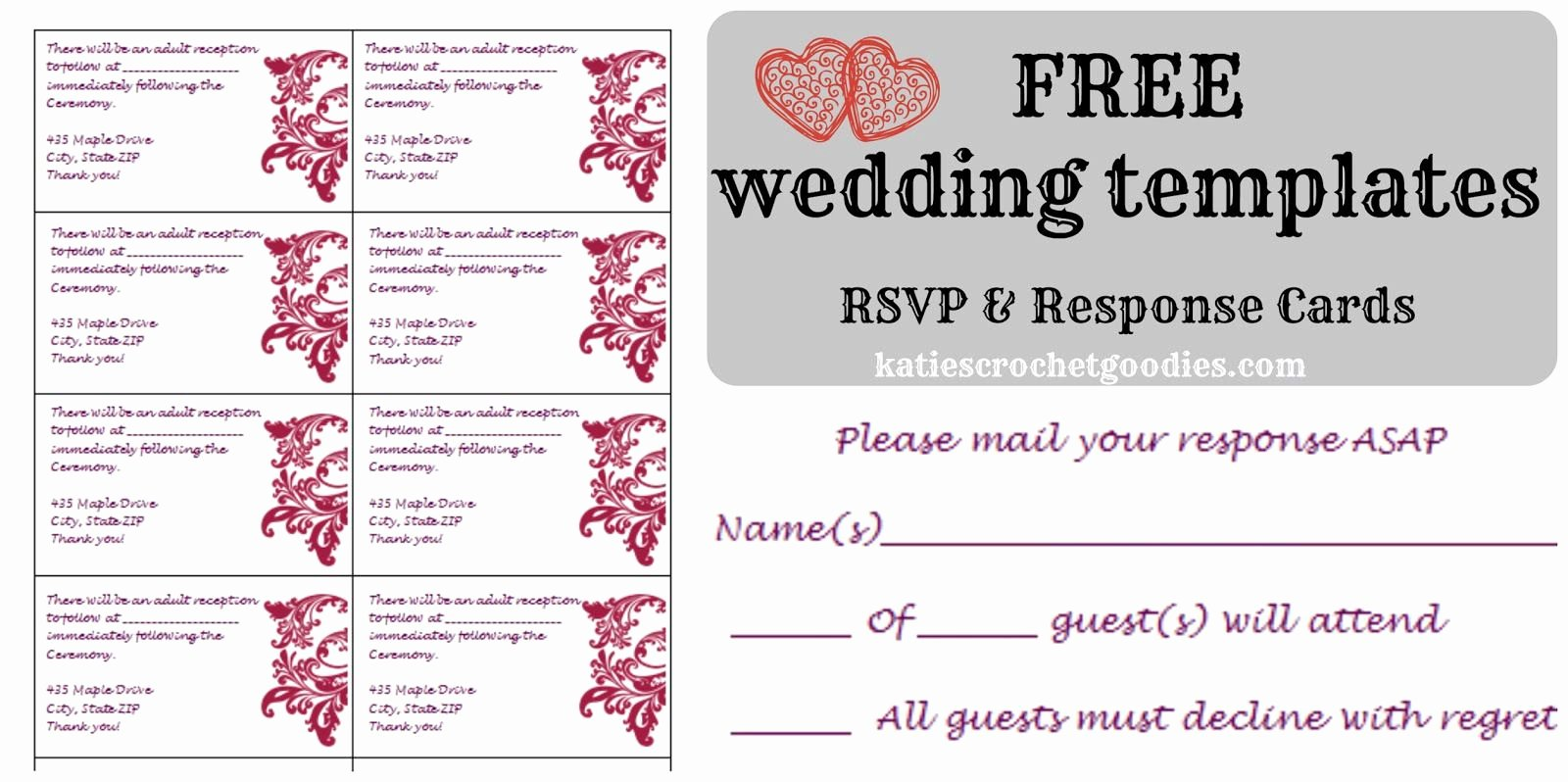 Wedding Rsvp Postcards Template Best Of Free Wedding Rsvp & Response Card Template Templat