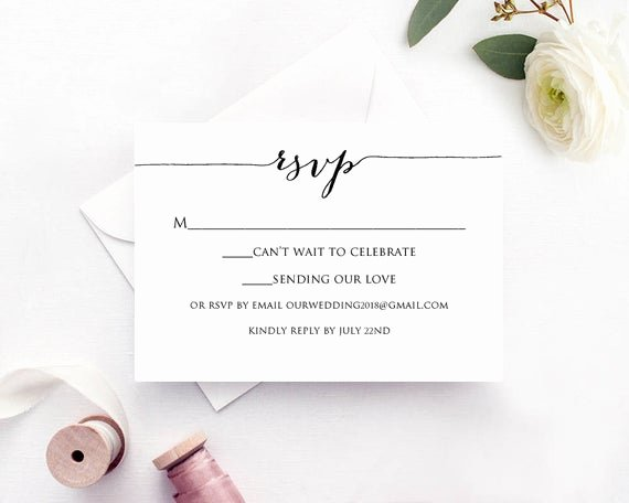 Wedding Rsvp Postcards Template Elegant Rsvp Card Template Edit & Print Instant Download Diy