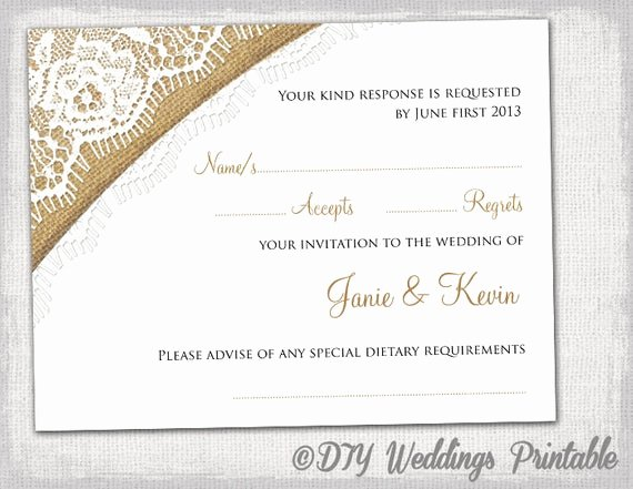 Wedding Rsvp Postcards Template Lovely Rustic Wedding Rsvp Template by Diyweddingsprintable
