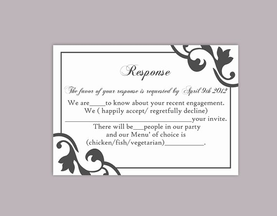 Wedding Rsvp Postcards Template New Diy Wedding Rsvp Template Editable Text Word File Instant