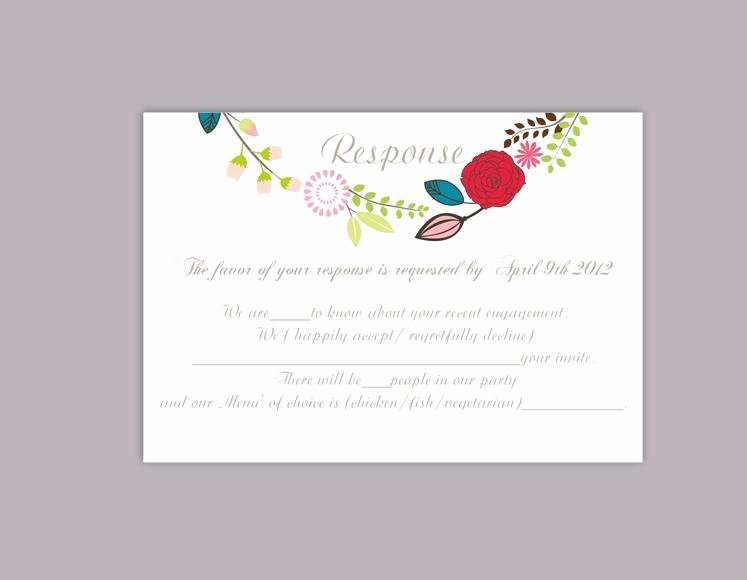 Wedding Rsvp Postcards Template Unique Diy Wedding Rsvp Template Editable Word File Download Rsvp