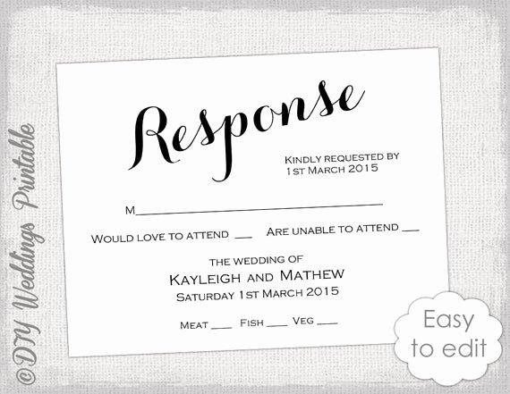 Wedding Rsvp Postcards Template Unique Rsvp Template Diy Calligraphy Carolyna Printable