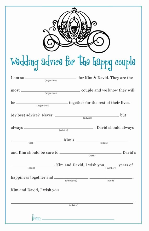 Wedding Shower Mad Lib Template Elegant Cinderella Princess Bridal Shower Wedding by