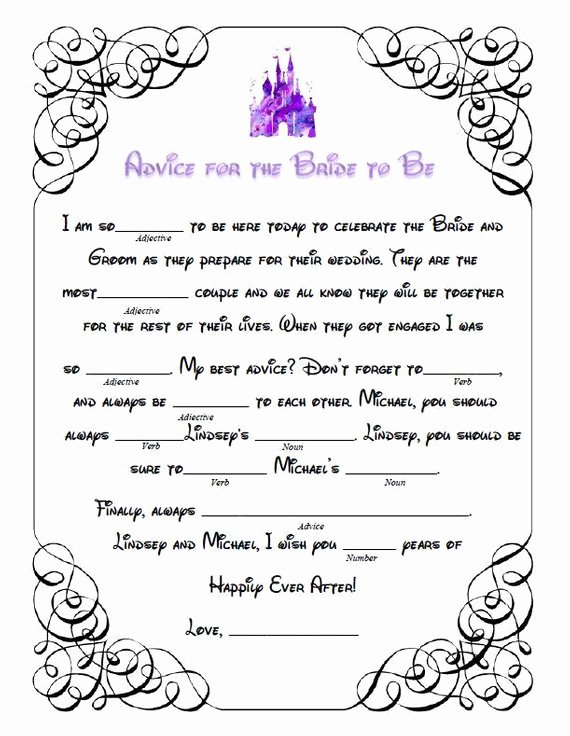 Wedding Shower Mad Lib Template Unique 7 Bridal Shower Mad Libs for the Ultimate Pre Wedding Fun