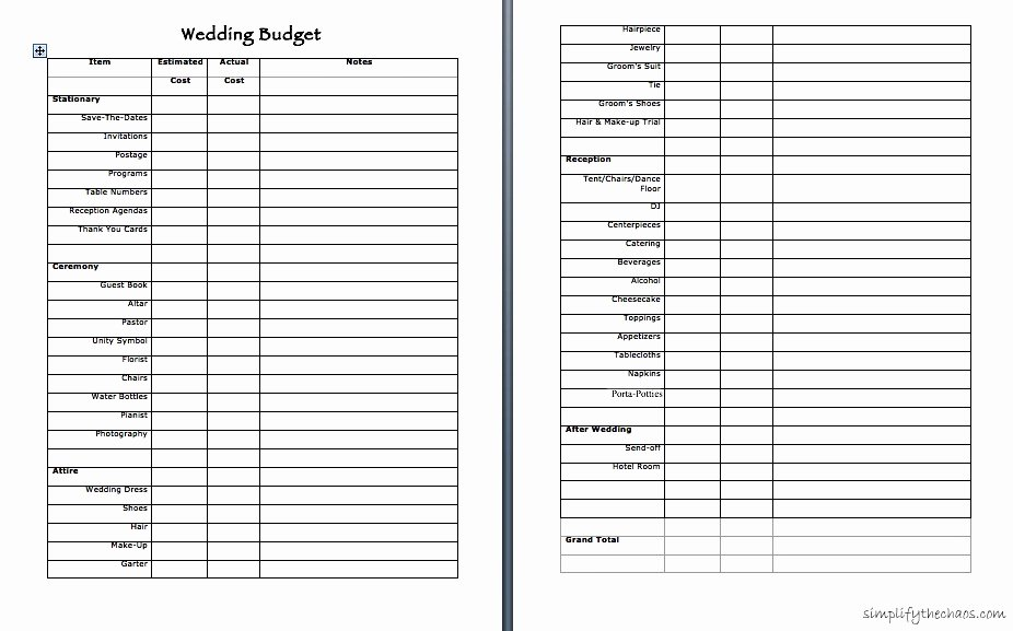 Wedding Vendor Contact List Template Inspirational Wedding Bud – Simplify the Chaos