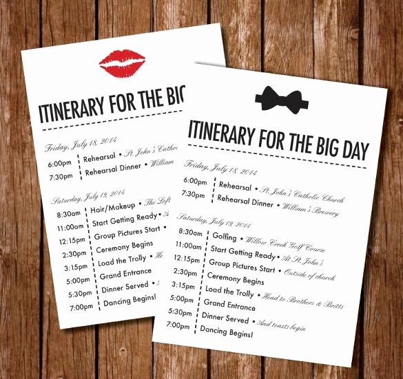 Wedding Weekend Itinerary Template Free Awesome Best 25 Wedding Itinerary Template Ideas On Pinterest