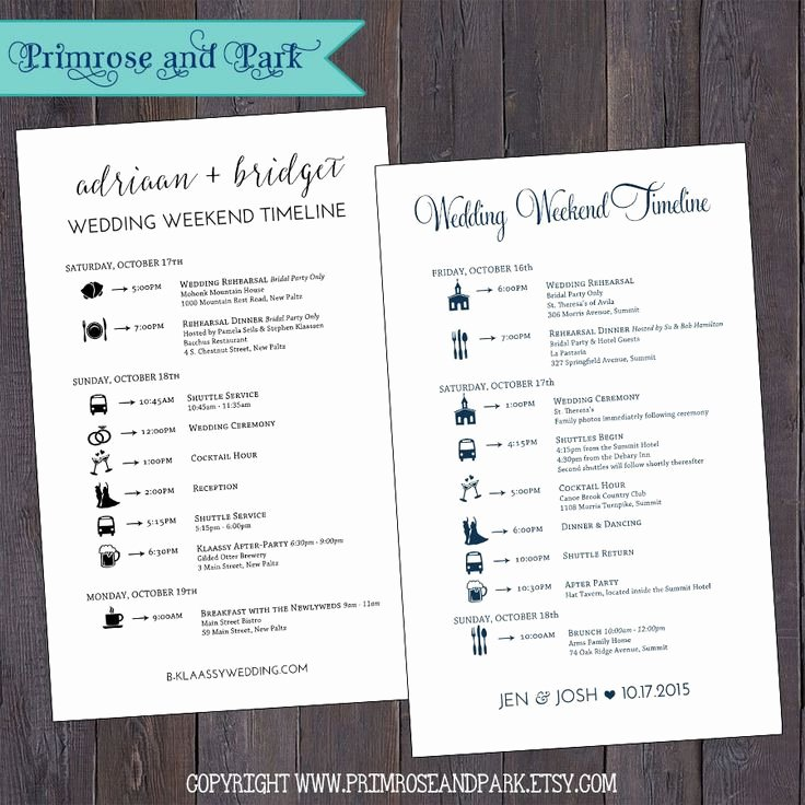 Wedding Weekend Itinerary Template Free Beautiful Wedding Wel E Note and Wedding Itinerary Printable