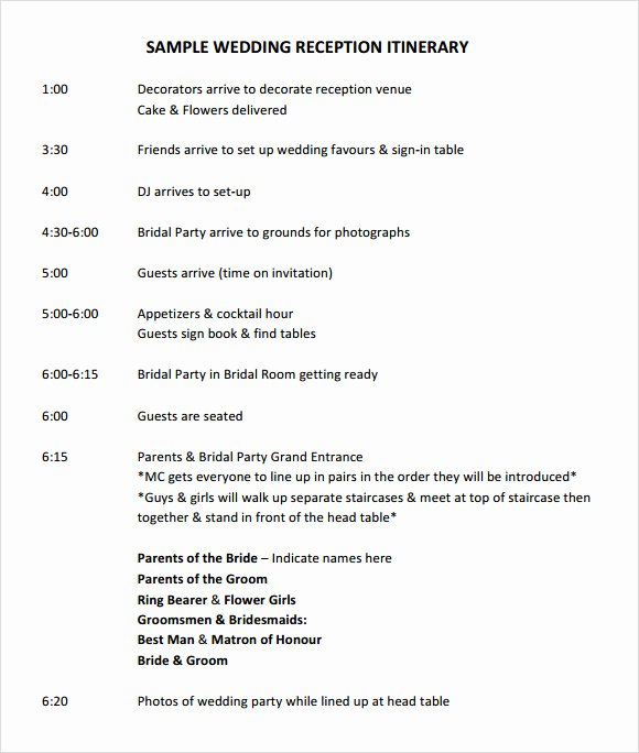 Wedding Weekend Itinerary Template Free Best Of Wedding Itinerary Template 8 Download Documents In Pdf