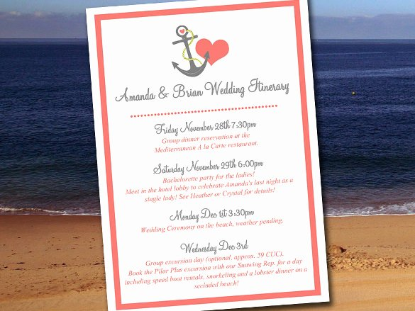 Wedding Weekend Itinerary Template Free Inspirational 44 Wedding Itinerary Templates Doc Pdf Psd