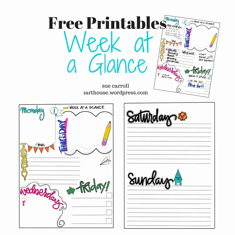 Week at A Glance Templates Best Of Week at A Glance Free Printable – 1arthouse
