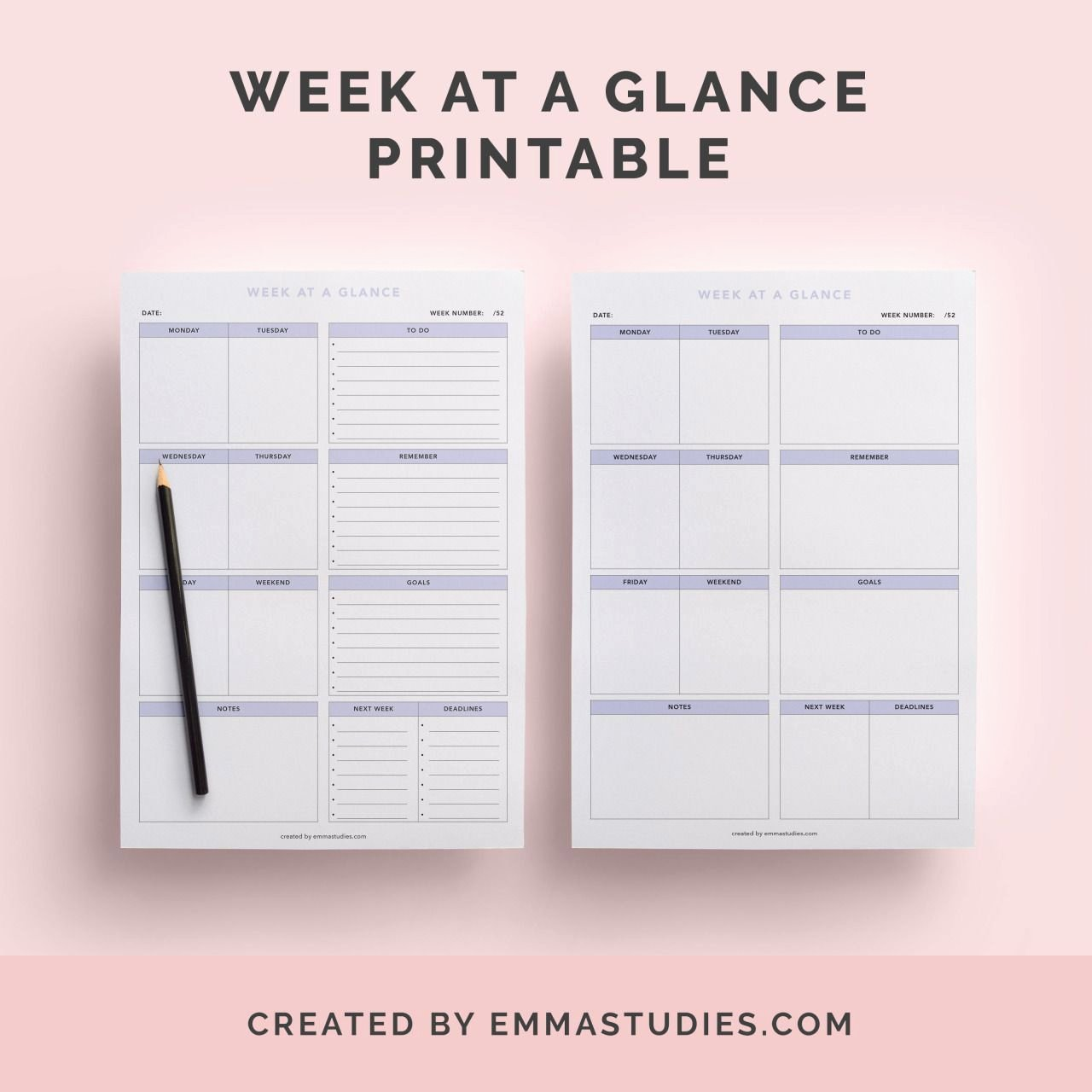 Week at A Glance Templates Best Of Week at A Glance Weekly Schedule Free Printable for