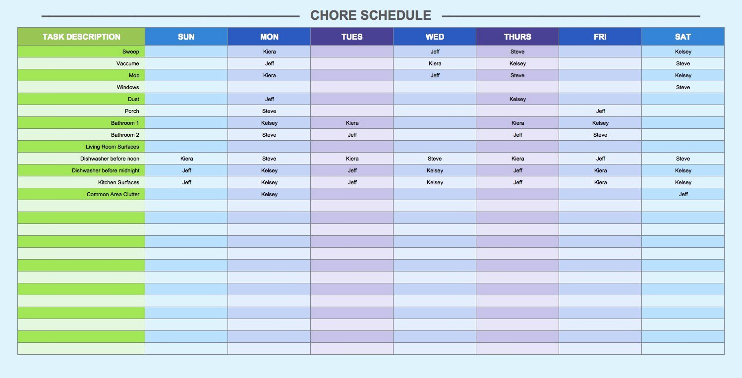 Week Schedule Template Excel Fresh Free Weekly Schedule Templates for Excel Smartsheet