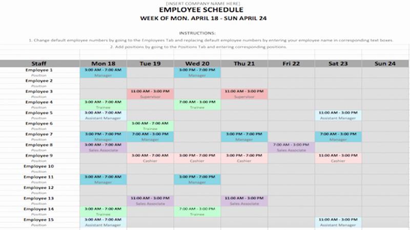Week Schedule Template Word Inspirational Weekly Schedule Template In Word and Excel formats