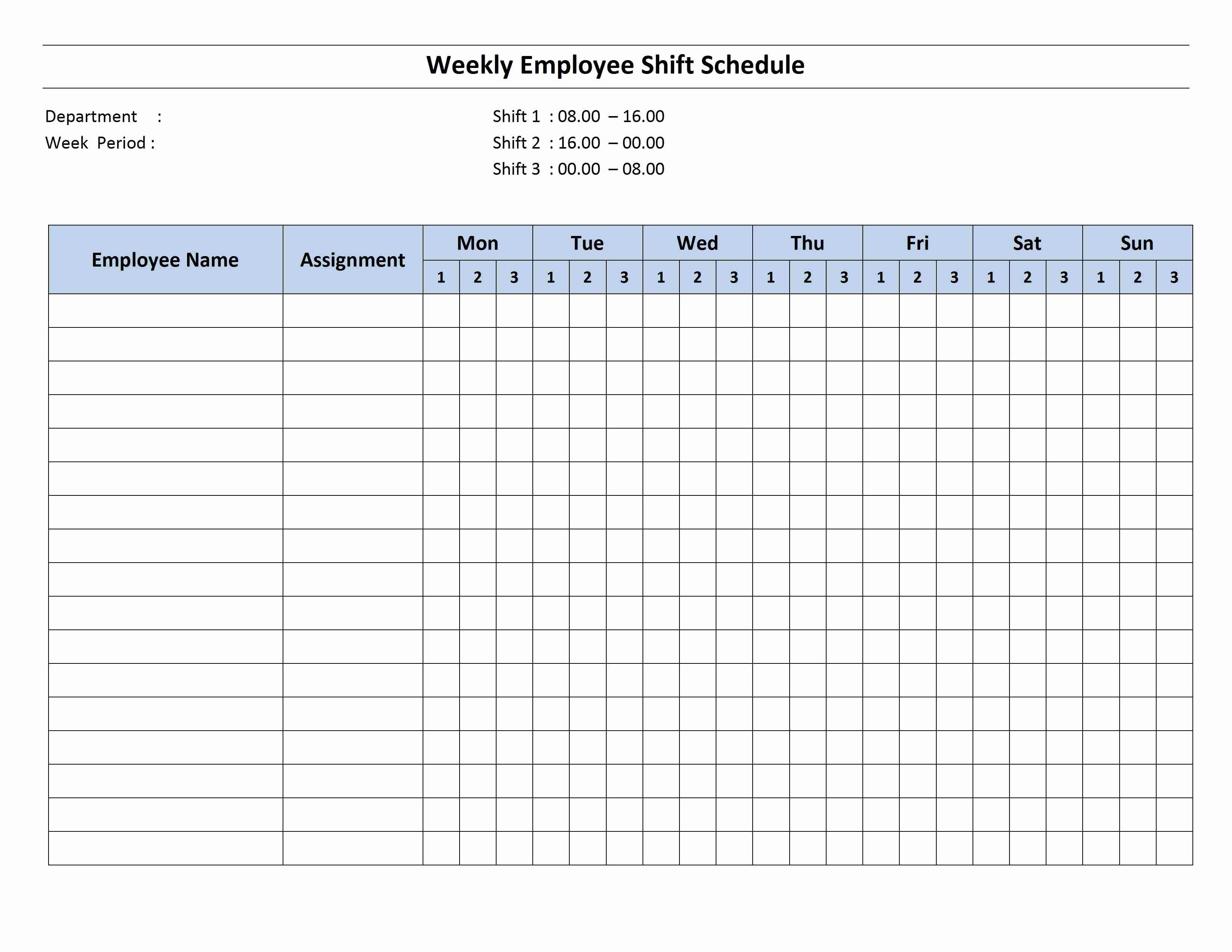Week Schedule Template Word Luxury Weekly 8 Hour Shift Schedule