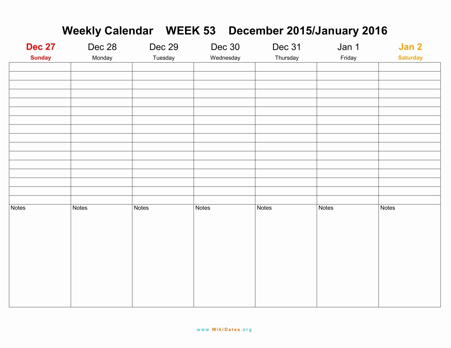 Weekly Calendar Template 2017 Beautiful Weekly Calendar 2016 2017 2018