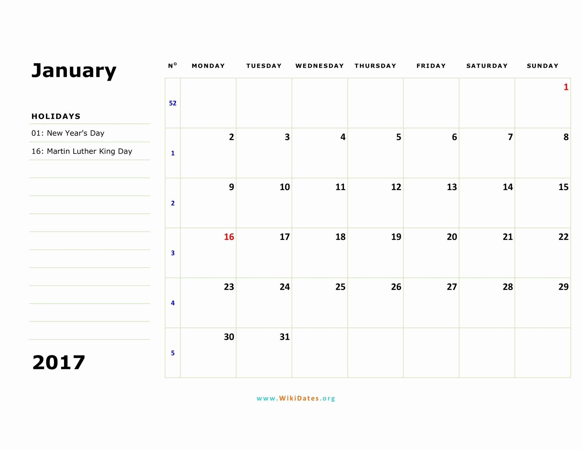 Weekly Calendar Template 2017 New 2017 Calendar