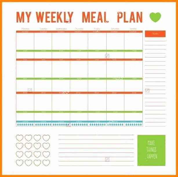 Weekly Meal Planner Template Word Awesome 12 Editable Menu Planner