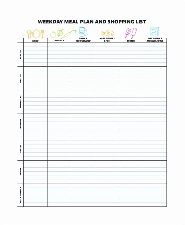 Weekly Meal Planner Template Word Awesome Weekly Meal Planner Template 9 Free Pdf Word Documents